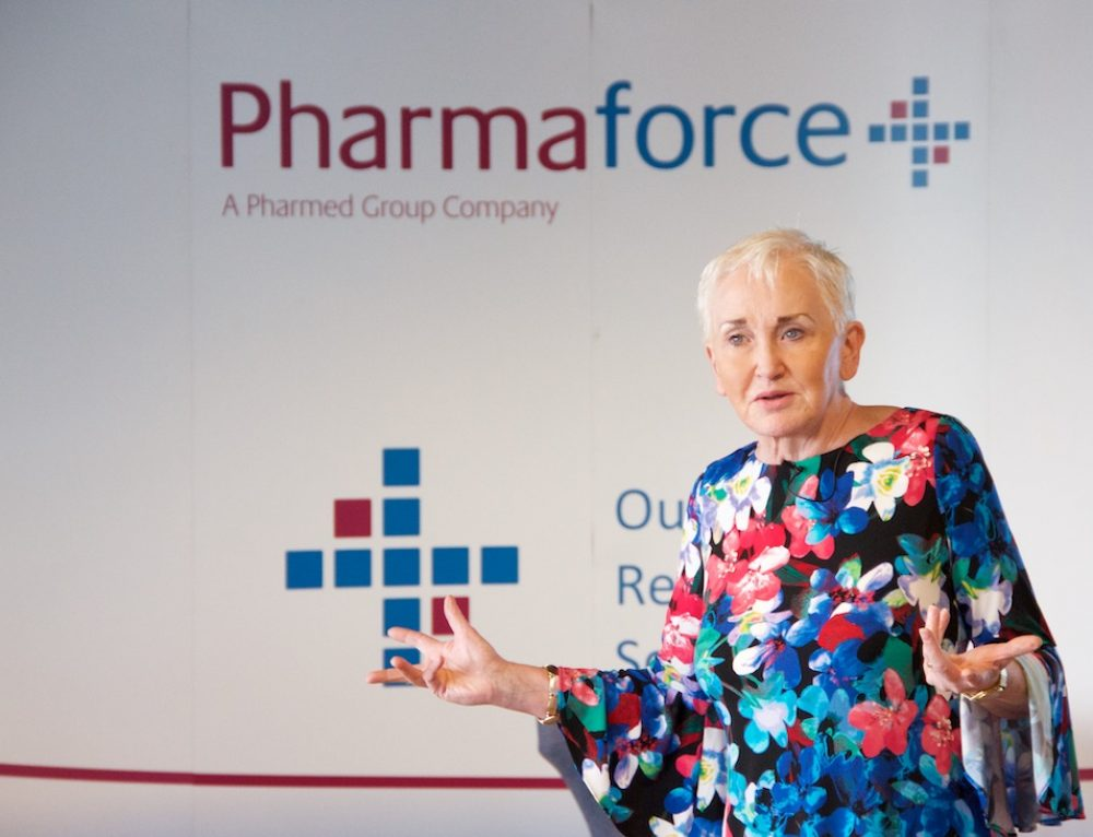 Pharmaforce launch survey results at Business Leaders Breakfast with Terry Prone